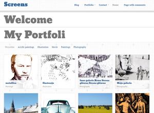 Screens Free WordPress Portfolio Theme