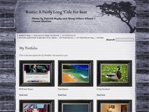 Rustic Free WordPress Portfolio Theme