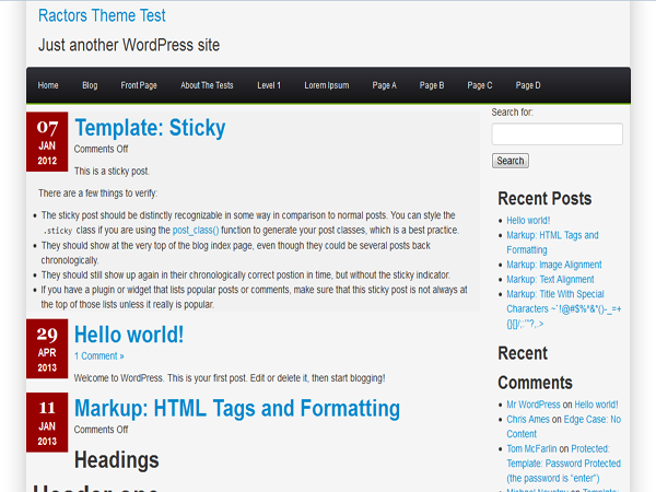 Ractopress Free WordPress Portfolio Theme