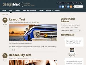 Designfolio Free WordPress Portfolio Theme