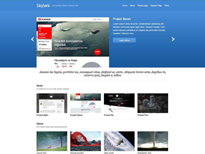 Skylark Free WordPress Portfolio Theme