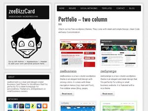 zeeBizzCard Free WordPress Portfolio Theme