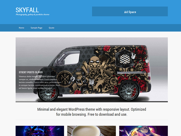 SkyFall Free WordPress Portfolio Theme