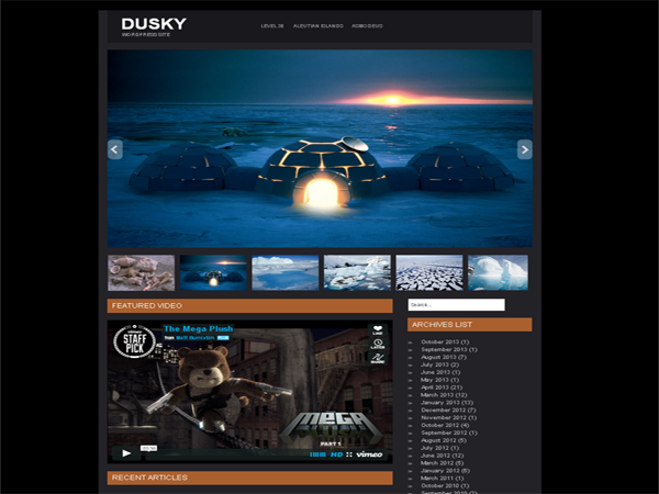 Dusky Free WordPress Portfolio Theme