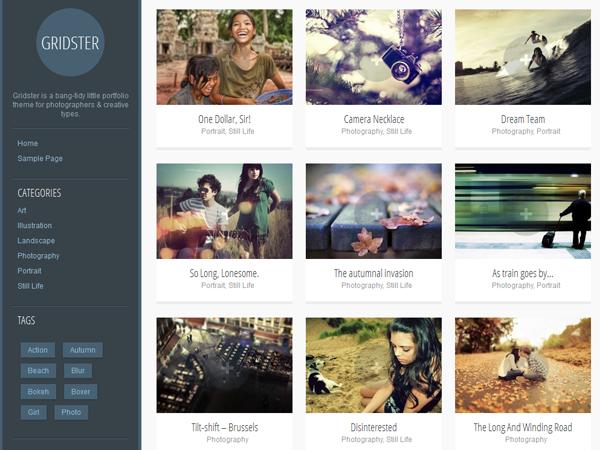 Gridster-Lite Free WordPress Portfolio Theme