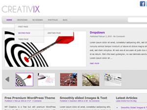 WP-Creativix Free WordPress Portfolio Theme