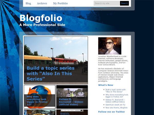 Blogfolio Free WordPress Portfolio Theme