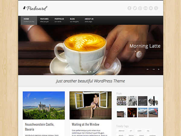 Pinboard Free WordPress Portfolio Theme