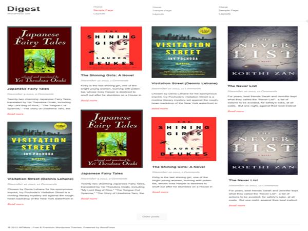 Digest Free WordPress Portfolio Theme