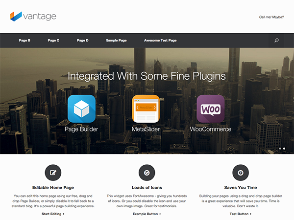 Vantage Free WordPress Portfolio Theme