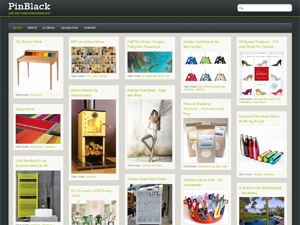 PinBlack Free WordPress Portfolio Theme