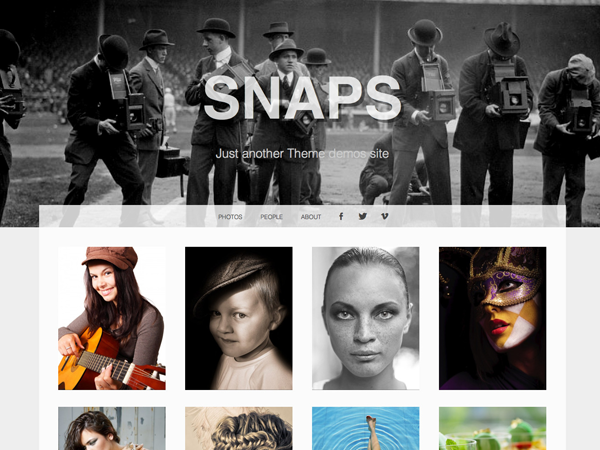 Snaps Free WordPress Portfolio Theme