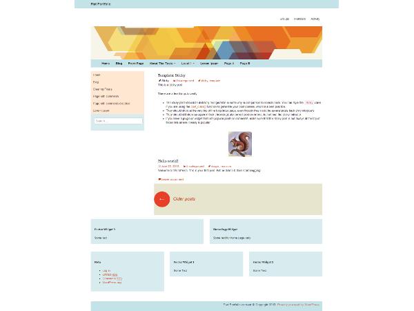 Flat Portfolio Free WordPress Portfolio Theme