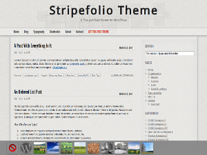 Stripefolio Free WordPress Portfolio Theme