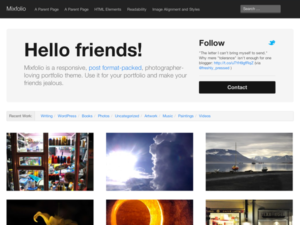 Mixfolio Free WordPress Portfolio Theme