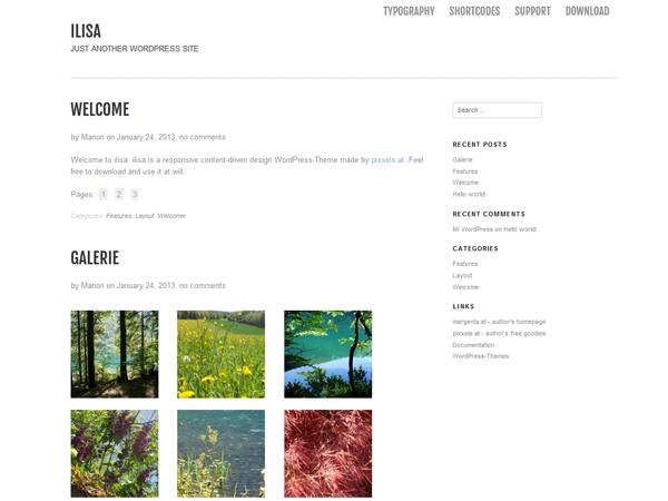 Ilisa Free WordPress Portfolio Theme