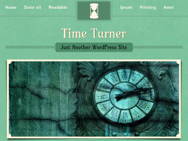 TimeTurner Free WordPress Portfolio Theme