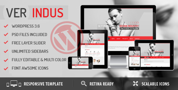 VerIndus Simplified Creative  Portfolio WordPress Theme