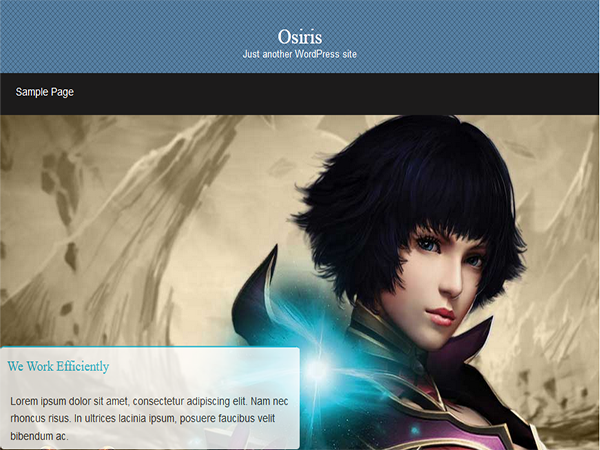 Osiris Free WordPress Portfolio Theme