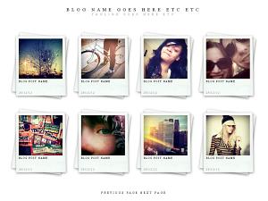 Polaroids Free WordPress Portfolio Theme
