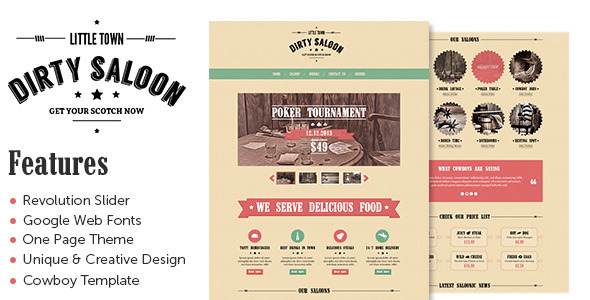 Dirty Saloon A Rugged  Portfolio WordPress Theme