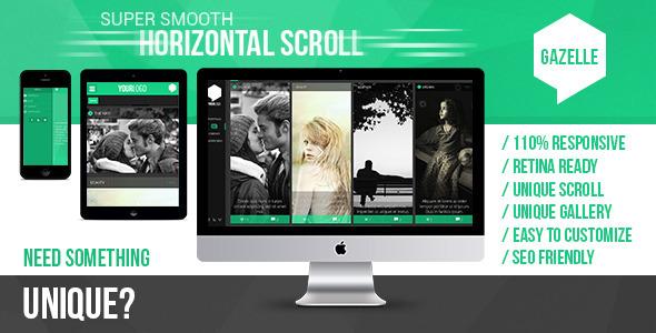 Gazelle AJAX and Blog Portfolio WordPress Theme