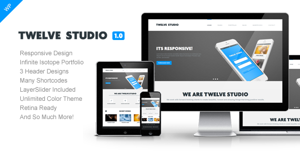Twelve Studio  Portfolio WordPress Theme