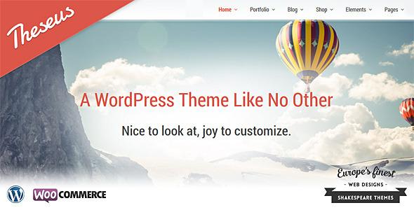 Theseus  Portfolio WordPress Theme
