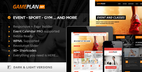 Gameplan Event and Gym Fitness  Portfolio WordPress Theme