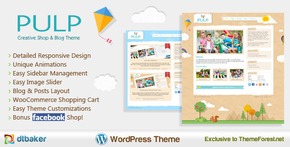 Pulp Creative Blog Shop Portfolio WordPress Theme