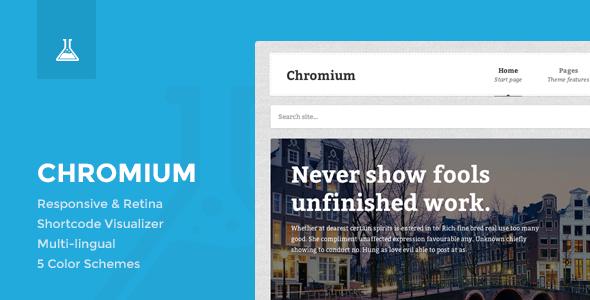 Chromium Business and Blog Portfolio WordPress Theme