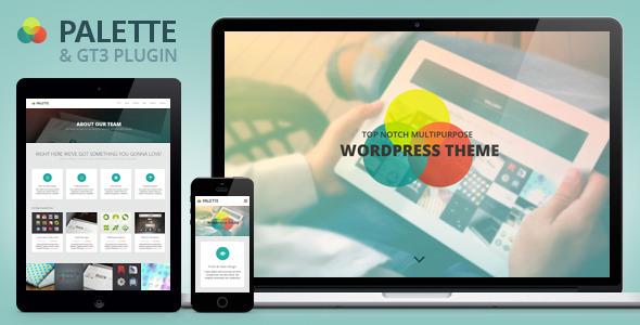 Palette Parallax  Portfolio WordPress Theme