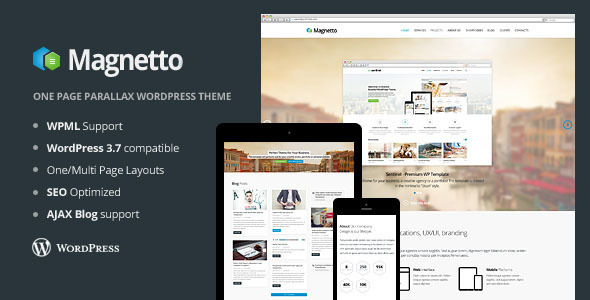 Magnetto Parallax  Portfolio WordPress Theme
