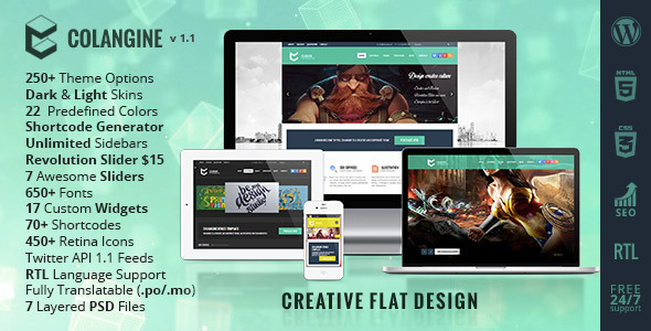 Colangine Creative Portfolio WordPress Theme