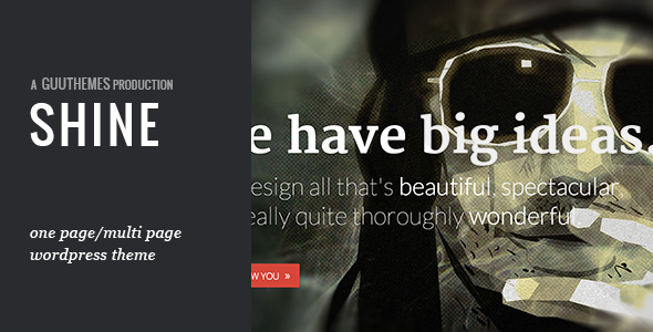 SHINE  Portfolio WordPress Theme