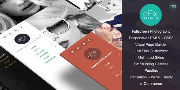 ePix   Portfolio WordPress Theme