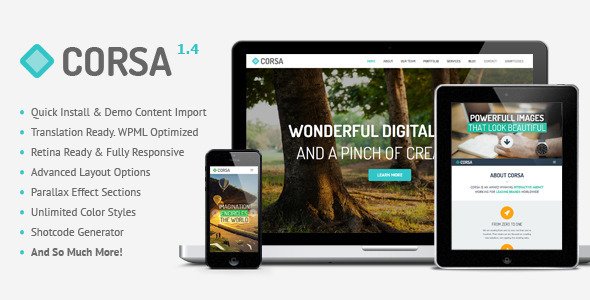 Corsa Retina Creative Portfolio WordPress Theme