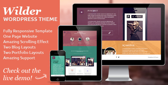 Wilder Flat  Portfolio WordPress Theme