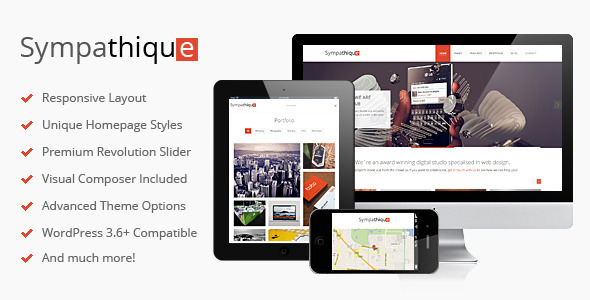 Sympathique  Portfolio WordPress Theme