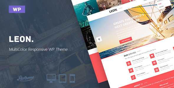 Leon. MultiColor HTML5  Portfolio WordPress Theme