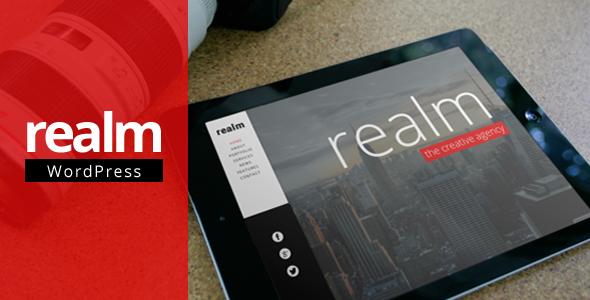 REALM Parallax  Portfolio WordPress Theme
