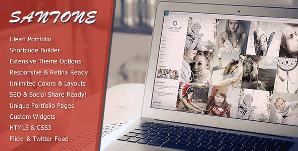 Santone Clean    Portfolio WordPress Theme