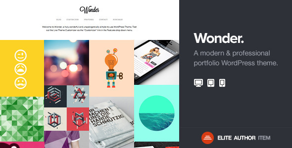 Wonder Professional  Portfolio WordPress Theme