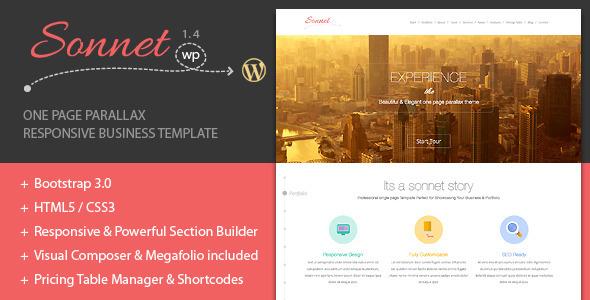 Sonnet Portfolio WordPress Theme