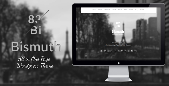 Bismuth : All in One  Portfolio WordPress Theme