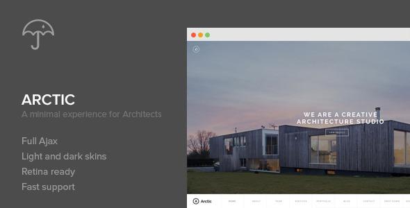Arctic Architecture Creatives  Portfolio WordPress Theme