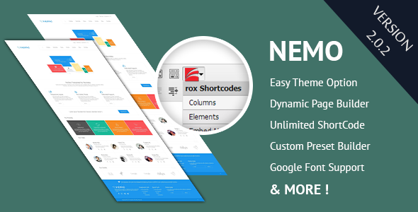 Nemo White Premium  Portfolio WordPress Theme