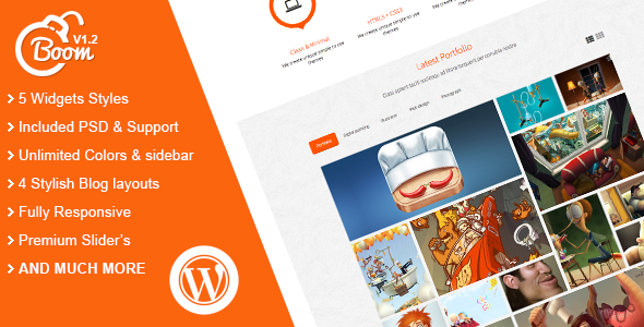 Boom  Portfolio WordPress Theme