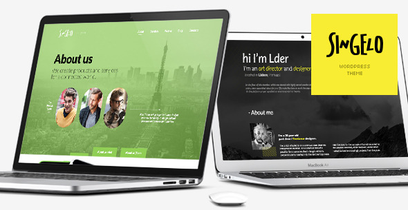 Singelo  Portfolio WordPress Theme