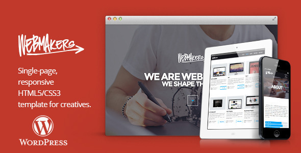 Webmakers  Portfolio WordPress Theme